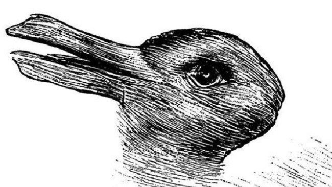 Двойственное изображение утка или заяц