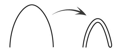 Металлический прут согнутый пополам