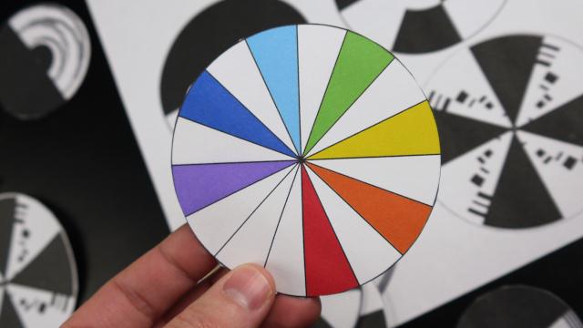 Пример разукрашенного цветного круга