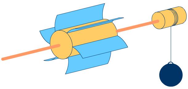 Модель генератора для подъема груза